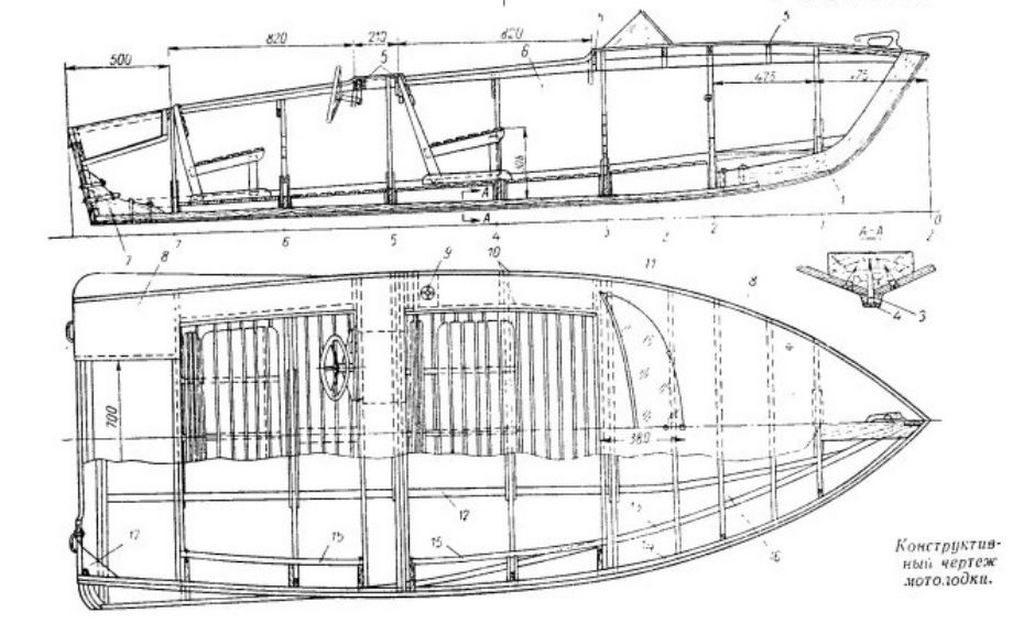 Чертеж лодка Кама