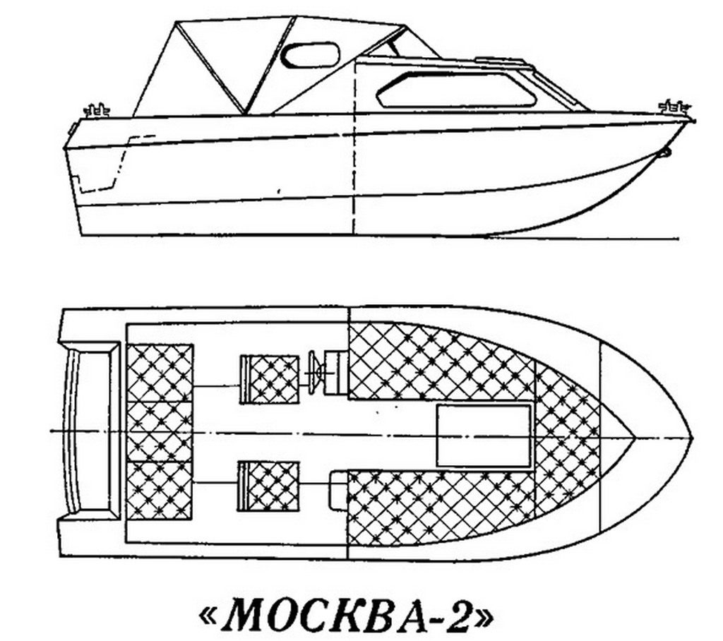 Чертеж лодки