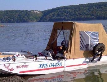 Лодка-прицеп-плавдача Дон